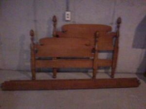 twin bed frame extra long solid wood with
