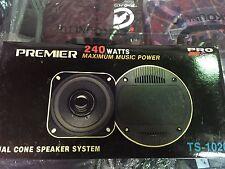 1 Pair PIONEER PREMIER 240 WATTS PRO SERIES DUAL CONE Speakers System TS-1020