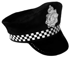 CHILDS POLICE HAT FANCY DRESS ACCESSORY COP PANDA KIDS ...