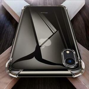 Coque Antichoc Apple Bumper Silicone iPhone X 6S 7 8 11 12 Max Plus Transparent