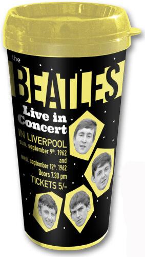 The Beatles Live In Concert Liverpool Schwarz Reise-Kaffeetasse Vacuum Official