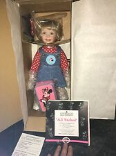 "Ashton Drake ""All Packed"" Minnie Mouse porcelain doll"