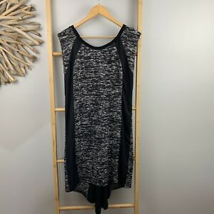 Decjuba-Size-M-Black-Fine-Knit-Dress-Cap-Sleeve