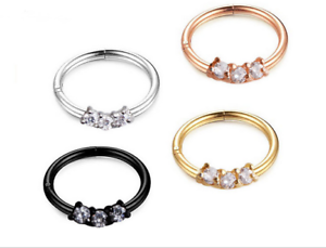 Septum-Clicker-Nose-Daith-Rings-CZ-Gem-Nose-Piercing-316L-Steel