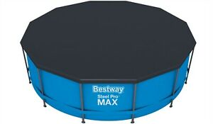 Bestway Steel Pro Frame Pool Cover 10ft 12ft ROUND SWIMMING POOL PADDLING Pools