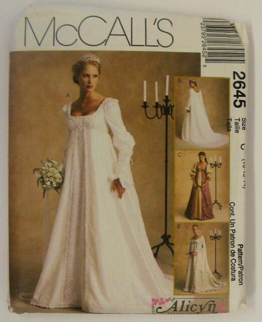 Mccall\'s #2645 & Flattering Renaissance Style Wedding Dress Pattern ...