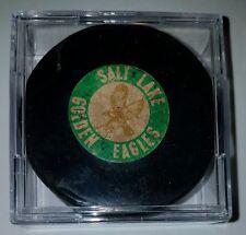 Vintage 1968-74 SALT LAKE GOLDEN EAGLES Art Ross Converse WHL Hockey Game Puck