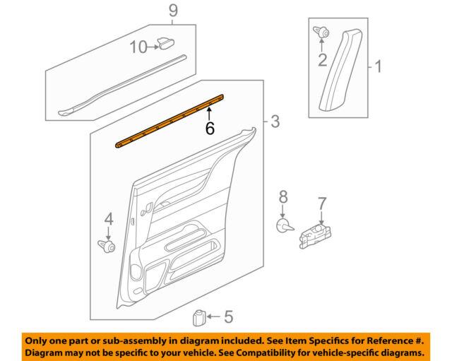 72875-TK8-A01 Honda Genuine Slide Door Weatherstrip