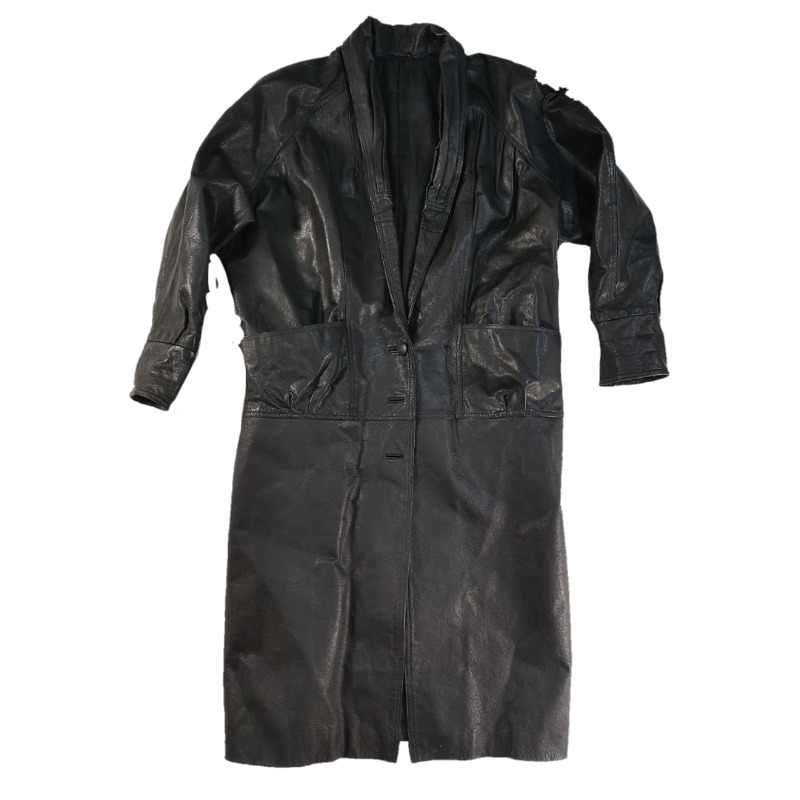 LUXURIOUS Women's Vintage Cowhide Trench Coat Large