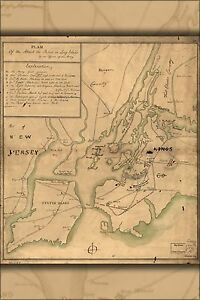 Map Of New York 1776.Details About Poster Many Sizes Map Of Attack On Long Island New York City 1776