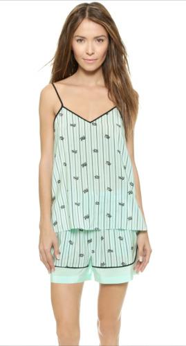 Tibi Striped Silk Pajama Set