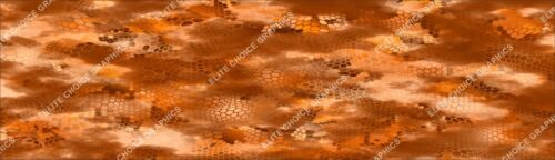 "Hex 3 Orange CAMO DECAL 3M WRAP VINYL 52/""x15/"" TRUCK PRINT REAL CAMOUFLAGE"