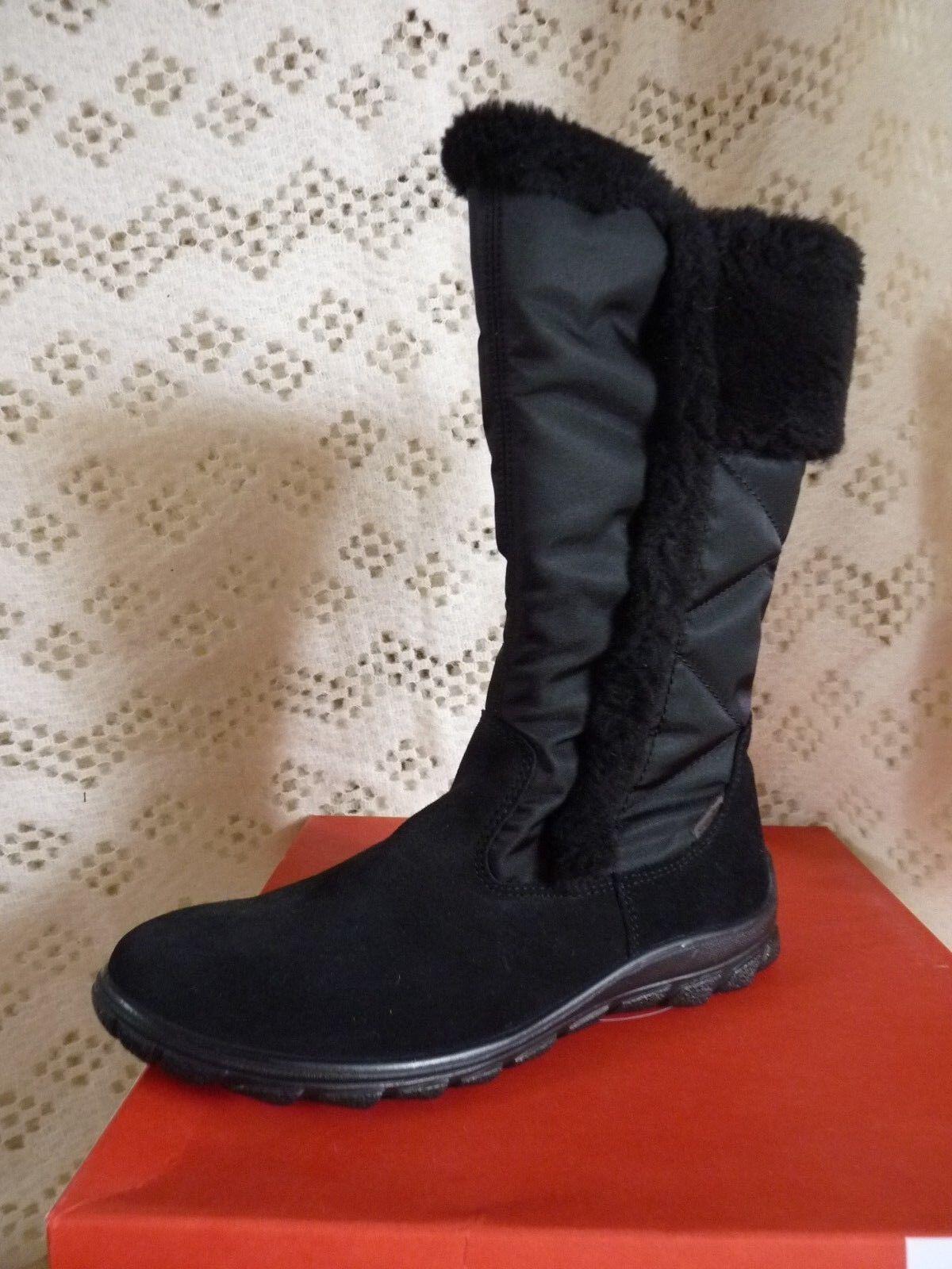 Mesdames RICOSTA Hayley Neige Bottes Hiver Noir Taille UK6.5 EU 40