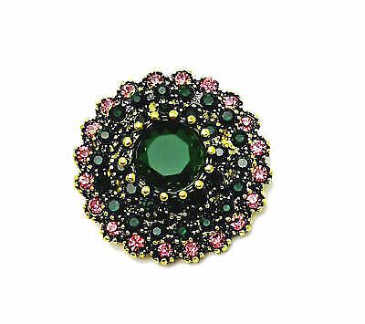 3D Crystal Eye Chunk Charm Snap Button Fit For Noosa Necklace//Bracelet  NSKZ60
