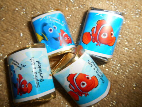 GLOSSY FINDING NEMO PERSONALIZED HERSHEY NUGGET WRAPPERS BIRTHDAY PARTY FAVORS