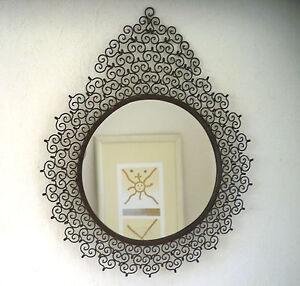 Grand miroir fer forg marocain d coration orientale 60 cm for Miroir oriental