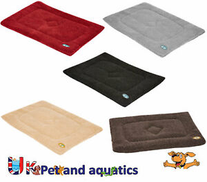 Gor-Pets-Crate-Mat-Cushion-Bed-Warm-Sherpa-Fleece-Assorted-Colours-amp-Sizes