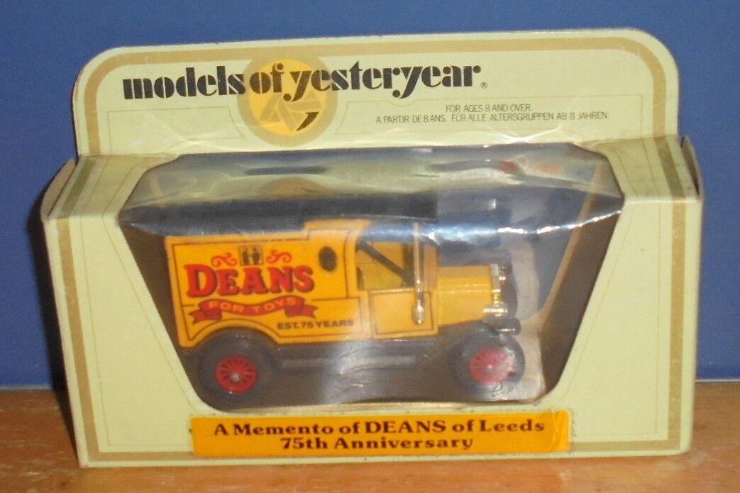 MATCHBOX YESTERYEAR Y12 Modèle T  Ford Van Deans pour jouets code modèle 2  à la mode
