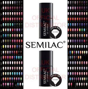 Semilac-Soak-Off-LED-UV-Hybrid-Manicure-Nail-Gel-Polish-Pick-From-250-Colours