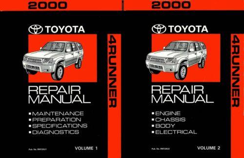 Bishko OEM Repair Maintenance Shop Manual Bound for Toyota 4-Runner 2000