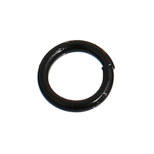 offen Schwarz Schmuck Basteln Verbinder Ringe DIY 6mm 500x Binderinge D