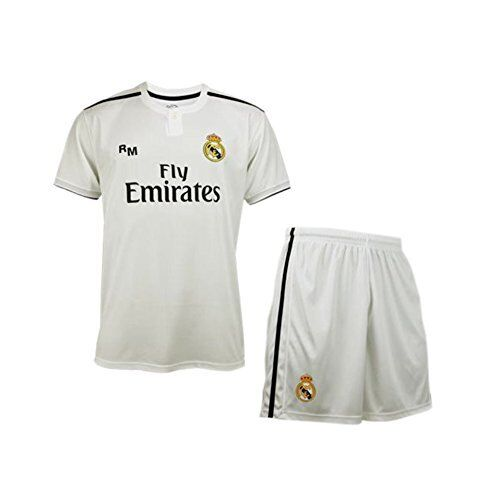 Maglia+Calzoni Ufficiale Neutra Real Madrid  Camiseta Blanca 2018-2019