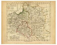 Poland Masovia Silesia Lithuania Belarus Ukraine map Lattre Delamarche ca.1800
