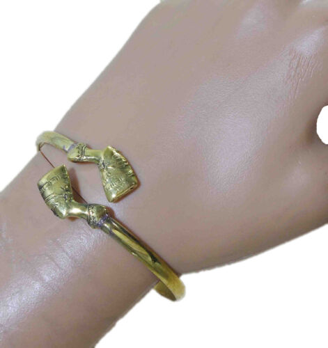 Égyptien en laiton fait main Nefertiti Tut Scarab Isis hiéroglyphes bracelet manchette