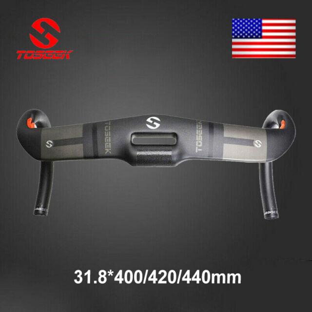 Bike Handlebar Bicycle 31.8mm Fiber 400//420//440mm TOSEEK Handlebar New