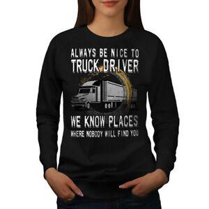 informal Jumper Jersey Wellcoda para sudadera Funny Truck cita Negro Driver mujer wwCqTHOa