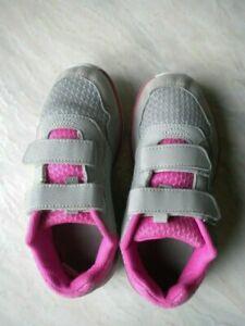scarpa-scarpe-calzature-tennis-bambina-32-Lotto-grigio-rosa-bianco-strap-bimba