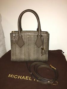 7036468d43c8 Image is loading Michael-Kors-Collection-CASEY-Limited-PYTHON-Leather-Bag-