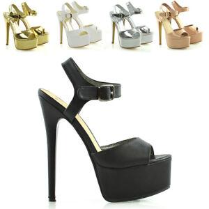Womens-Ankle-Strap-Platform-Stiletto-Heel-Peeptoe-Sandals-Ladies-Party-Shoes-3-8