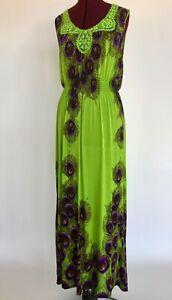 ACE-Fashion-Maxi-Dress-Sleeveless-Summer-Lime-Peacock-Mint-Women-039-s-XXXL-Bust-45-034