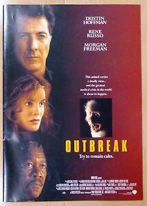 Outbreak Japan Movie Program Book 1995 Dustin Hoffman Rene Russo Ebay