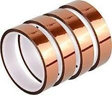 4 Rolls 25mmx36yrd Kapton Polyimide Silicone Hi Temp Heat Resistant Tape 25mil