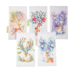 5x Tabbed Paper A5 Notebook Index Tabs Tabbed Planner Divider Paper #1