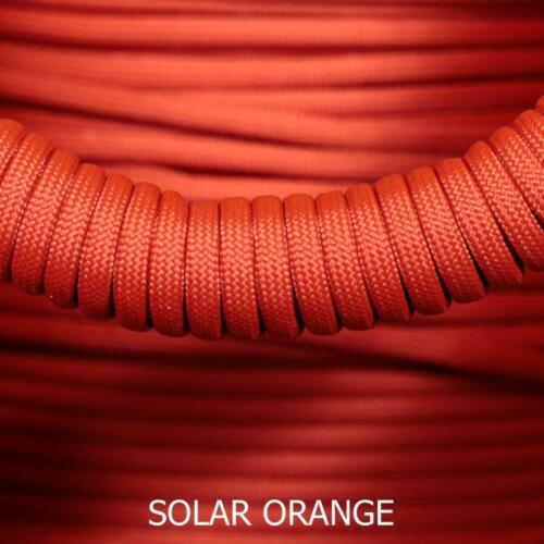 environ 30.48 m Paracord 550 Type 3-7 Strand Parachute Cord-solaire orange 100 Ft
