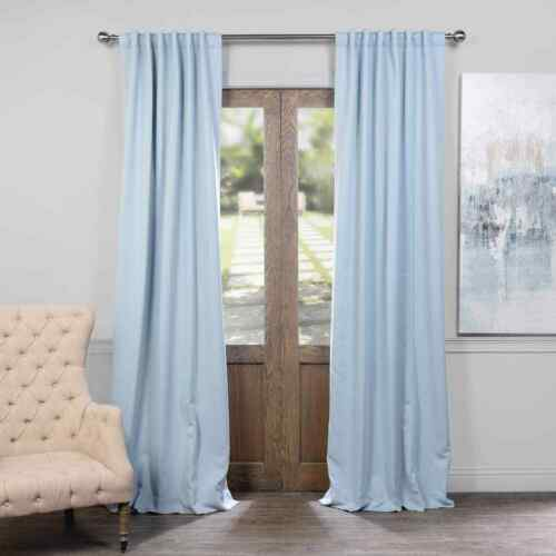 Sold Per Panel Solid Blackout Curtains