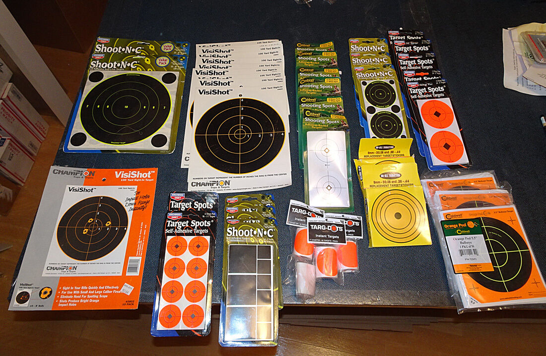 Shooting targets - misc Tailles and types