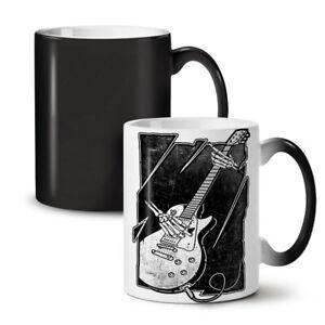 Skull Music Bass Guitar NEW Colour Changing Tea Coffee Mug 11 oz | Wellcoda