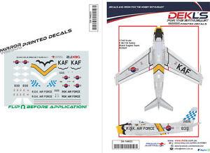 Decals-F-86-Sabre-ROKAF-Black-Eagles-Aerobatic-Team-039-Yellow-Nose-039-1-144-Scale