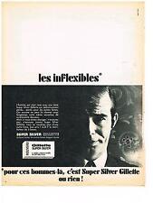 PUBLICITE ADVERTISING  1981  GILETTE super silver  lame de rasoir