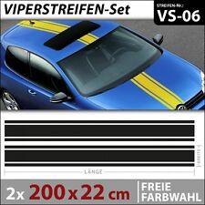 Viperstreifen Autoaufkleber Rallystreifen Racing Stripes Aufkleber . VS-06