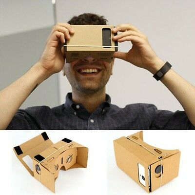 DIY Cardboard Virtual Reality 3D Glasses for Google iPhone Samsung ect Phones UP