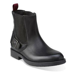 Details about Clarks Norton Spin Mens Black Leather Biker Ankle Boots, UK 7.5, 9, 10