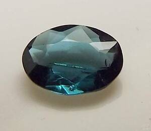 .58 CT OVAL SHAPED LOOSE FACETED NATURAL BLUE GREEN TOURMALINE (IND5-19)