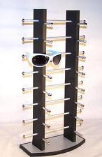 BRAND NEW 16 PAIR BLACK WOODEN SUNGLASS DISPLAY RACK wood sunglasses holder