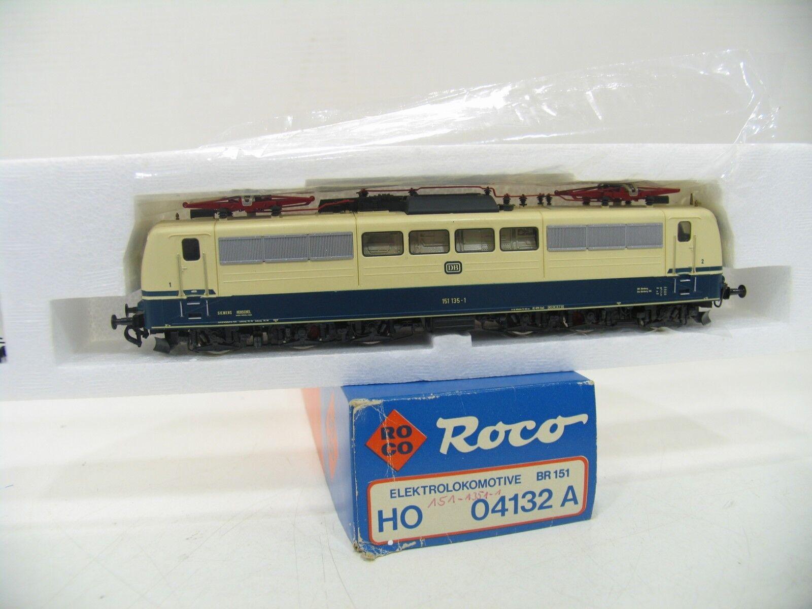 ROCO 04132 E-Lok BR 151135-1 Blu Beige della DB wm261