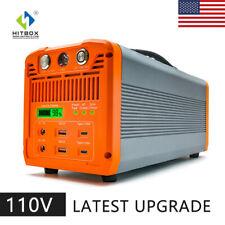 1000w Emergency Power Supply Portable Power Station Solar Charging Generator Us
